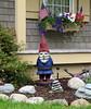 Wooden garden gnome, Hancock, Maine
