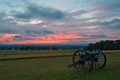 Gettysburg Cannon Sunset