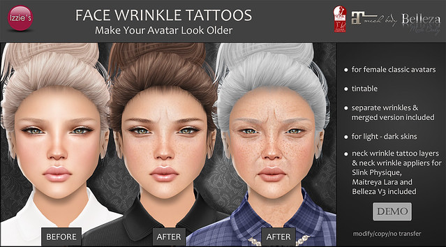 Face Wrinkle Tattoos (now @ Uber)