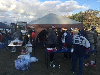 tailgate-set-up-notre-dame7 | by 5tar Limos Party Bus Rentals Chicago