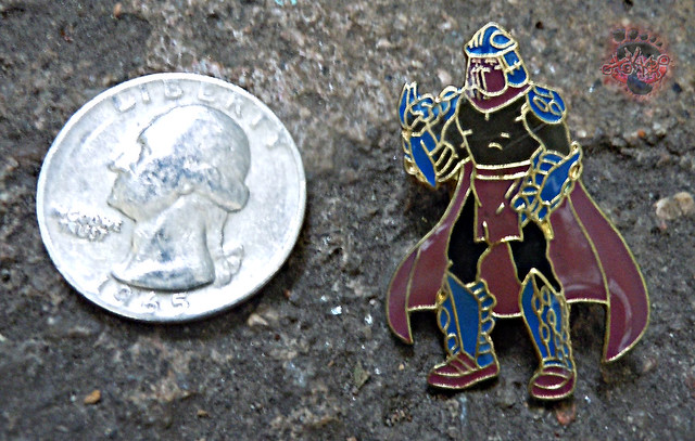 "ACE NOVELTY :: ""TEENAGE MUTANT NINJA TURTLES"" COLLECTOR PINS - No.3 'Shredder' v (( 1989 ))"