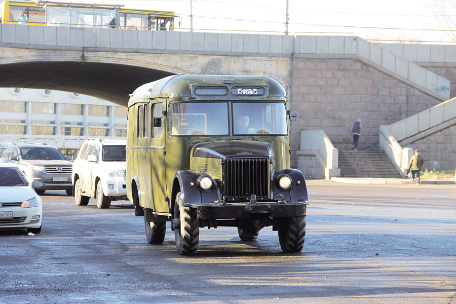 Автобус капотного типа, произведение механического завода «Уралец», сохранился в единственном экземпляре.