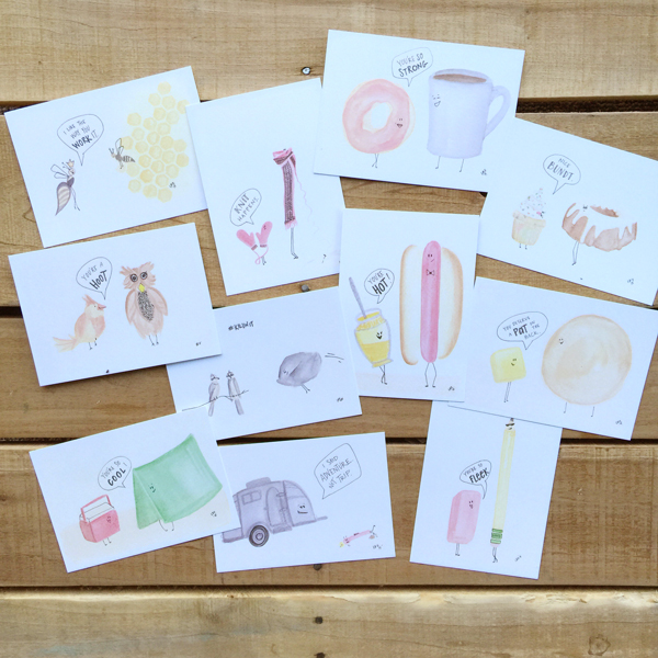 pun cards set by lesley zellers