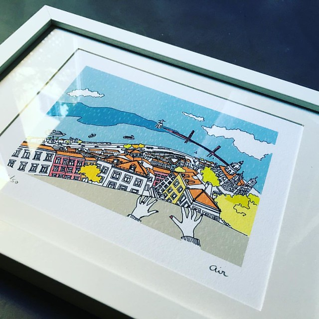 """The view from here"" is one of the #art prints currently available in my shop. Http://www.airdesignstudio.com/shop/"