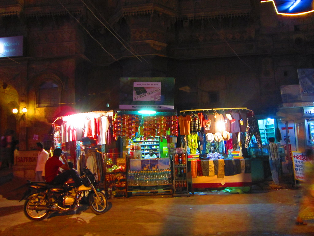 A night time stall in Jaisalmer