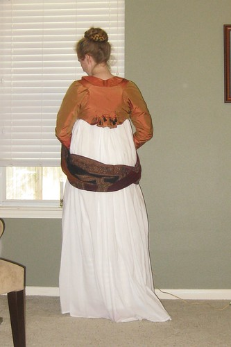 1800's Red Spencer - Back