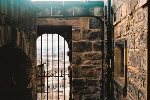 inside castle walls