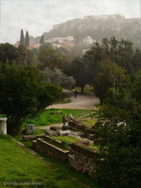 Vista de la Acrópolis desde el Ágora