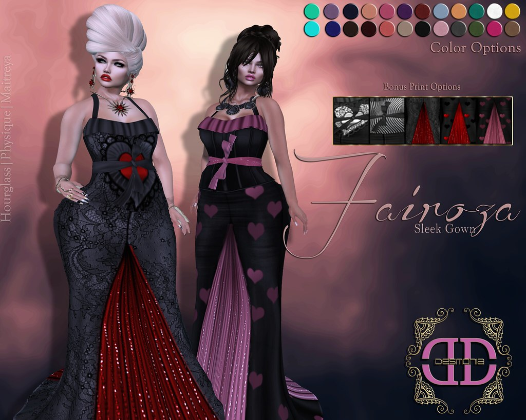 Fairoza Sleek Gown Fatpack - SecondLifeHub.com