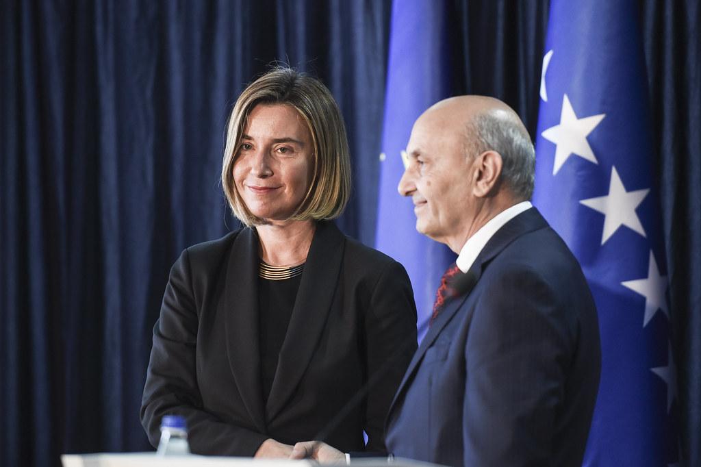 Federica Mogherini in Kosovo