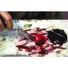'In the Mix' the art of mixing oil colours. #wallkandy #oilpaint #studio #colour #mix #palette #fb #f #p #t