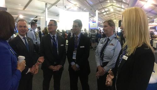 Minister Pyne visiting Nova Systems