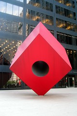 NYC - Financial District: Helmsley Plaza - Noguchi's Red Cube