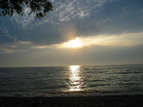 sunset camp lake ontario shore