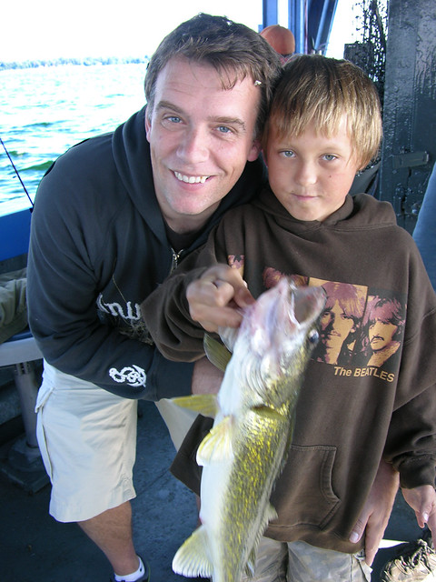 Dad and Patrick Show Off a Walleye