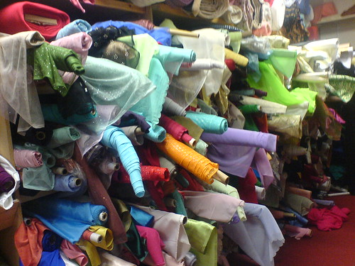 Rolls of Cloth at Bombay Stores, Bradford