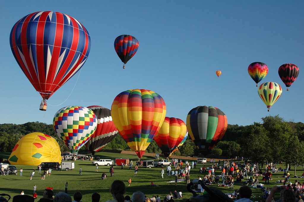 The balloons take flight at the Hot Air Balloon Festival