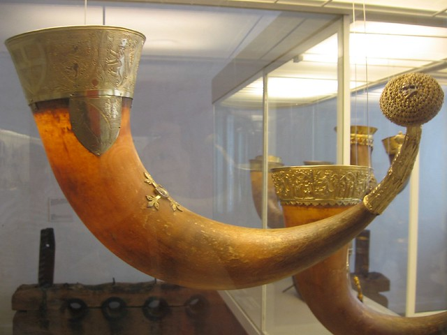 Drinking horn at the National Museum