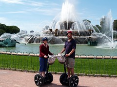 On our Segways in front of Buckingham fountain