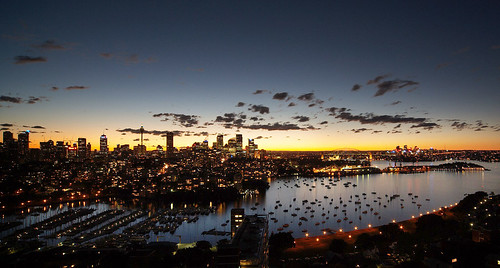 sydney skyline @ sunset