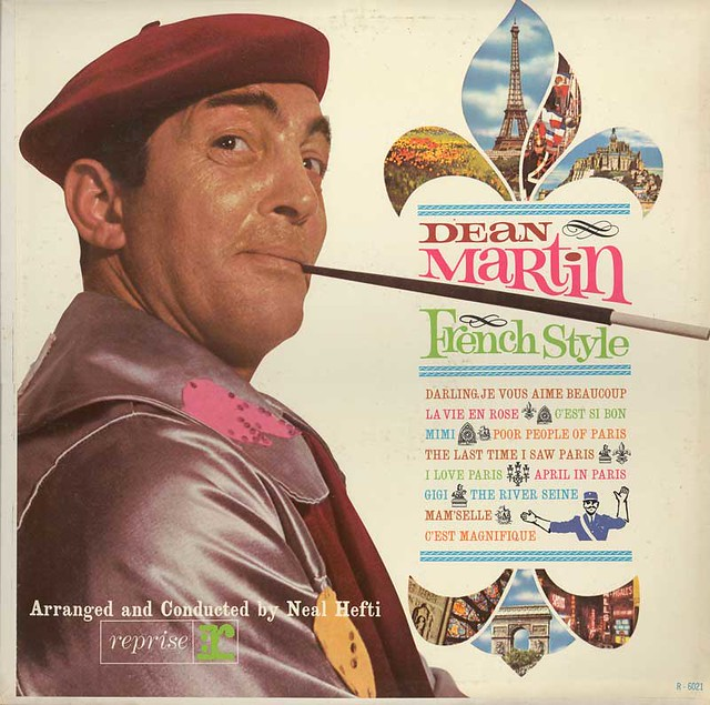 Dean Martin French Style Record Cover