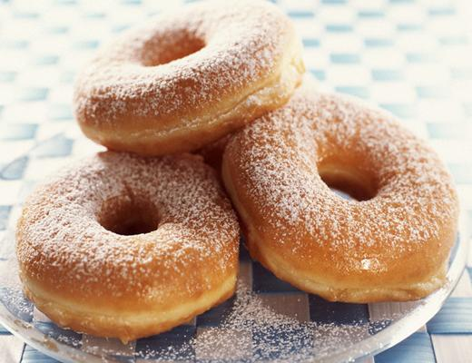 powdered-sugar raised donuts