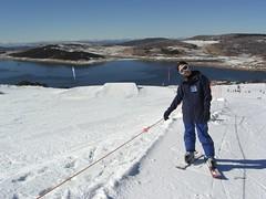 Julia on Ski Boards - Drover's Dream Terrain Park, Falls Creek