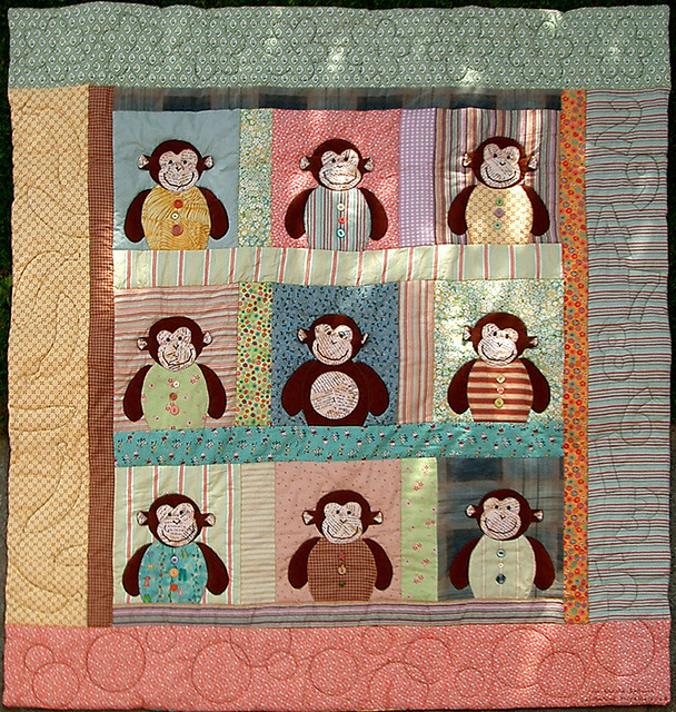 monkey quilt - a photo on Flickriver