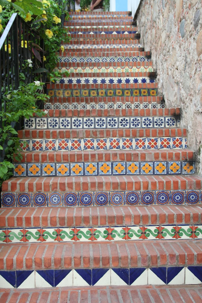 Mexican Tile Steps A Photo On Flickriver