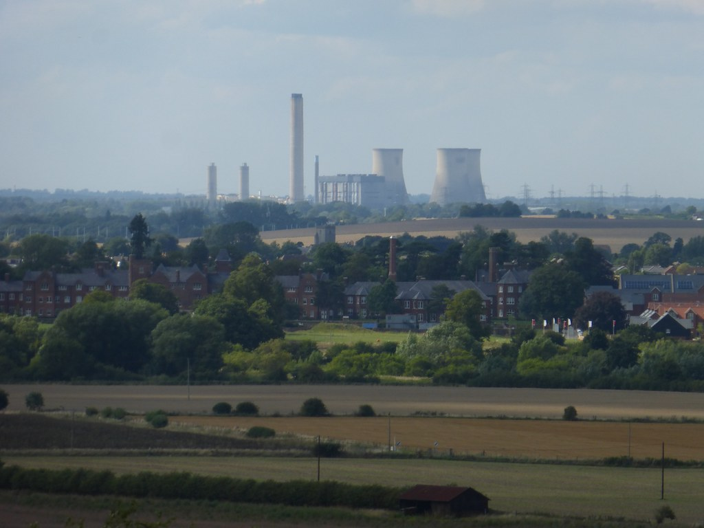 Didcot power station (telephoto shot) SWC walk 242 Cholsey to Goring via Wallingford
