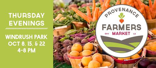 Provenance Fall Farmers Market, Shreveport
