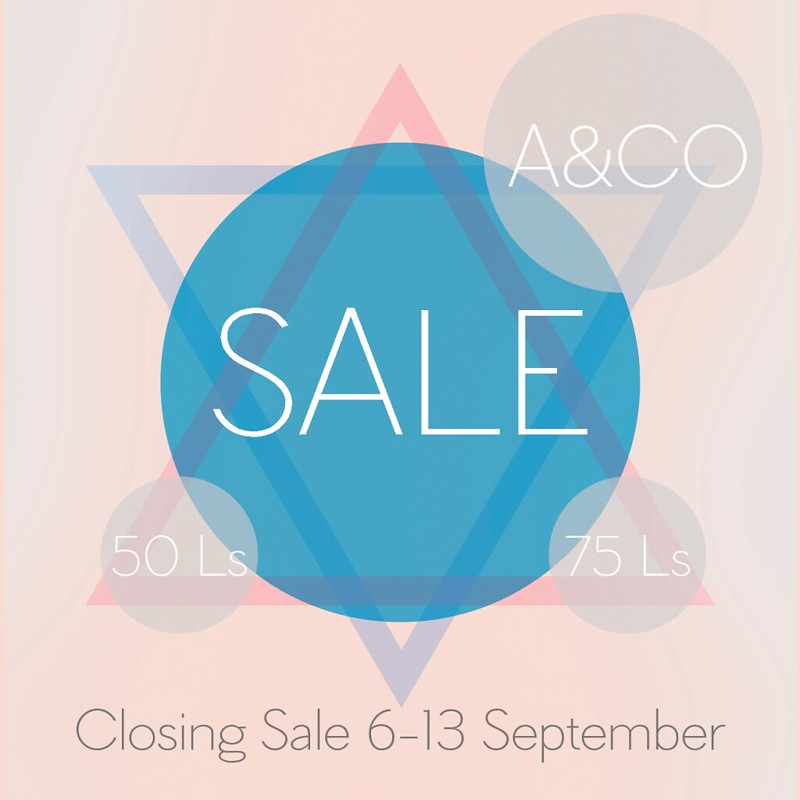 A&CO_Closing Sale