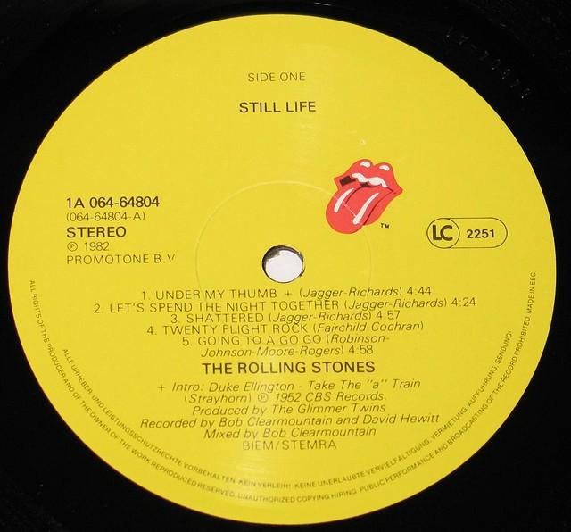 "ROLLING STONES STILL LIFE AMERICAN CONCERT EEC FOC 12"" LP"
