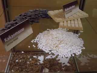 Basiszutaten zur Schokoladenherstellung