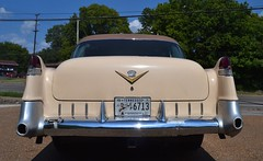 Fifties Cadillac outside Bobo's Catering Service Memphis TN