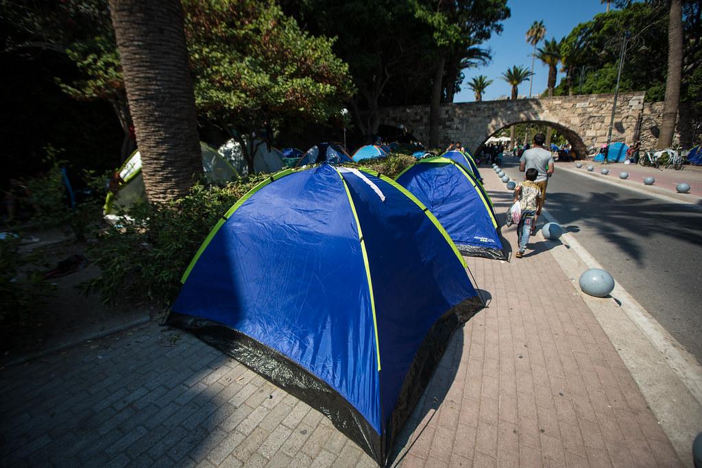 Telter på gata
