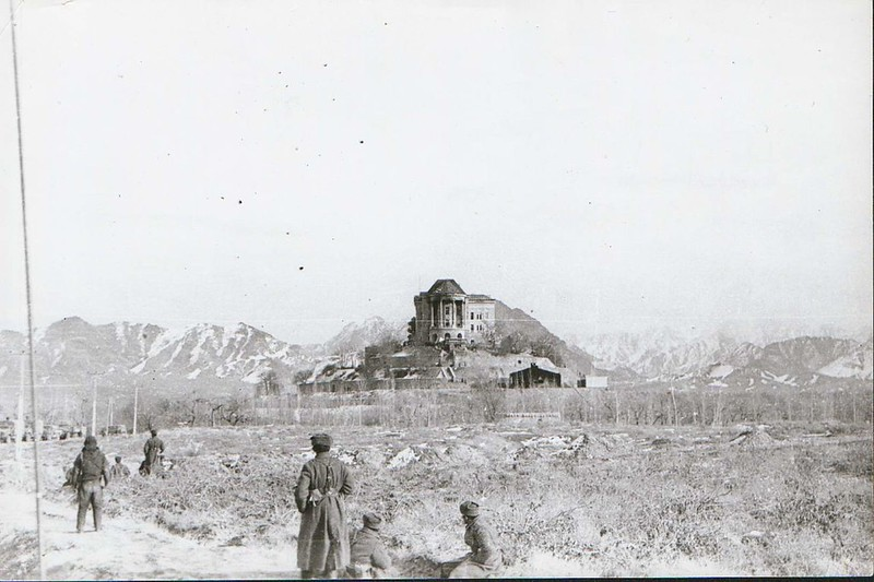 The Tajbeg Palace in Afghanistan stormed by Soviet Union forces