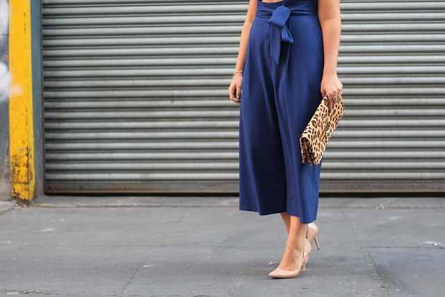 Navy Jumpsuit | #NYFW