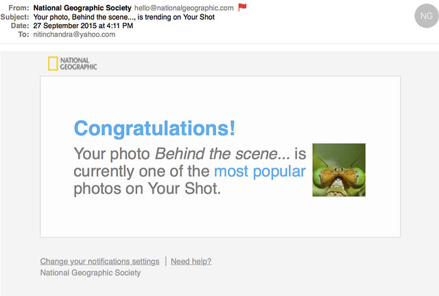 Your photo Behind the scene is trending on Your Shot