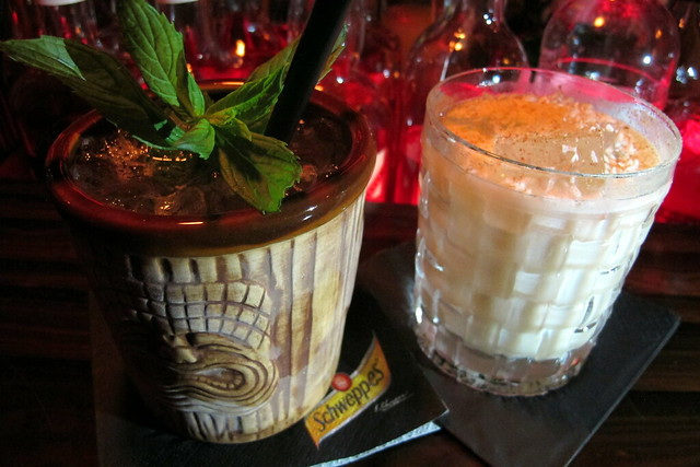 Die Blume von Hawaii and Voodoo Old Fashioned