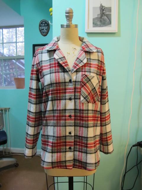 Flannel Carolyn PJs - on dressform