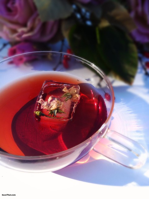 A unique punch made with roses and strawberries with a hint of brandy on Gift Style Blog Gave That
