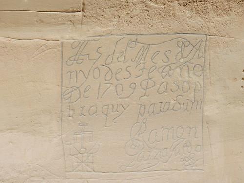 El Morro National Monument - Spaanse inscriptie uit 1709
