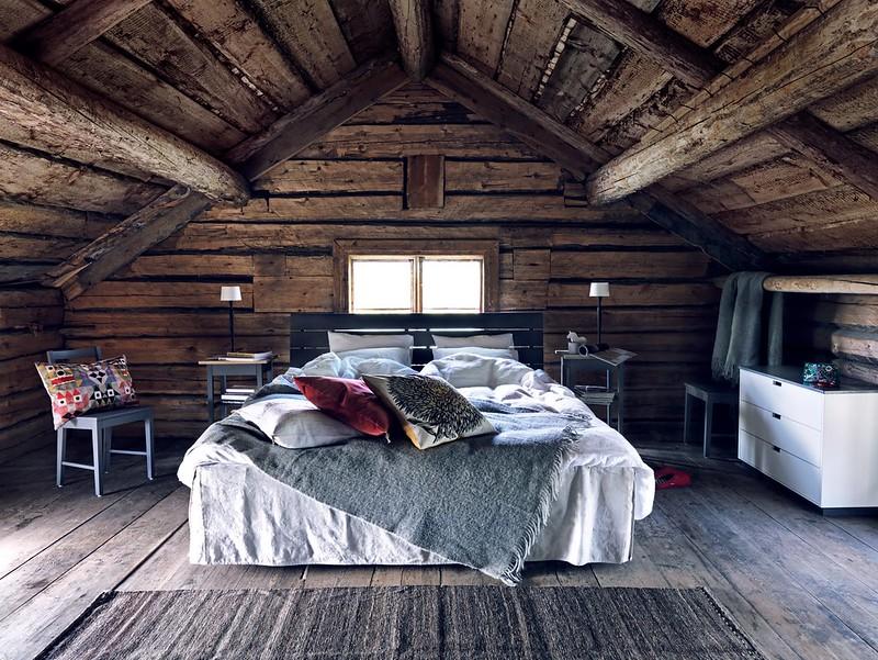 Sänggavel-BAS-trä-Litet-bord-med-låda-Poppel-byrå-och-Stol-BAS