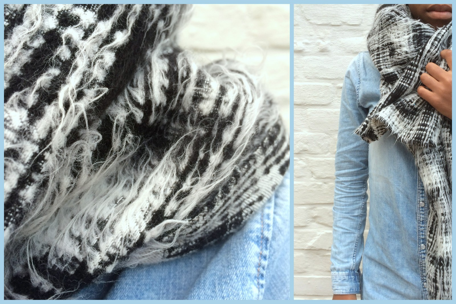 oversized scarf (collage)