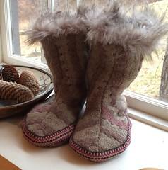 Handwoven booties