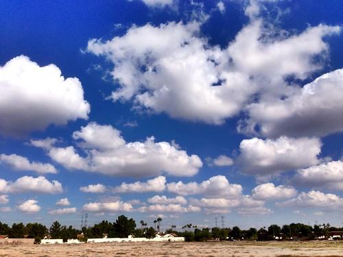 blue arizona sky clouds landscape outdoors cloudporn peoria