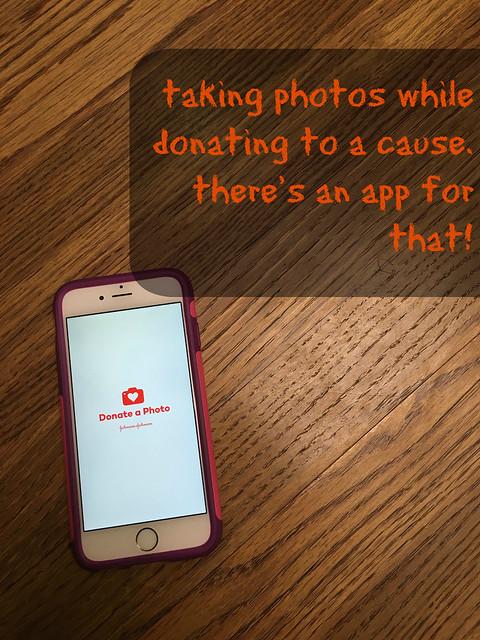 Donate a Photo screen image