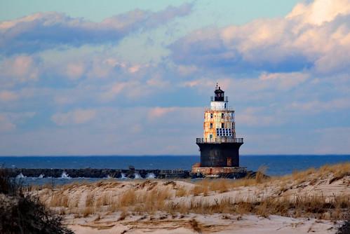 lewes harborofrefuge lighthouse delaware capehenlopen hdr photomatix