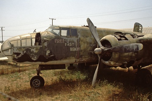 North American B-25 Mitchell at the Planes of Fame Museum, 1980